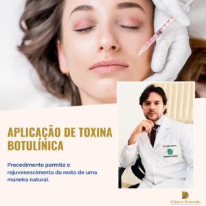 Aplicação de toxina botulínica