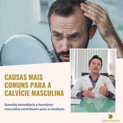 causas mais comuns para a calvicie masculina