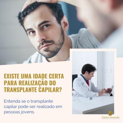 existe uma idade certa para realização do transplante capilar